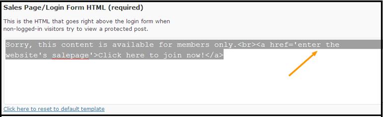 Memberlock Settings 2